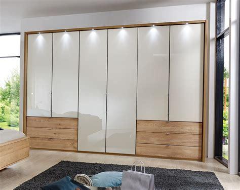 5 Ft Wide Wardrobes by Stylform Selene 250cm Solid Oak Glass Wardrobe Head2bed Uk