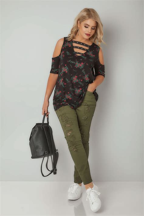 Limited Collection  Jeans Skinny Kaki, Taille 44 à 64
