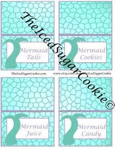 Printable Mermaid Birthday Party Template