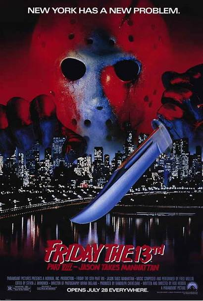 13th Friday Jason Manhattan Takes Poster 1989