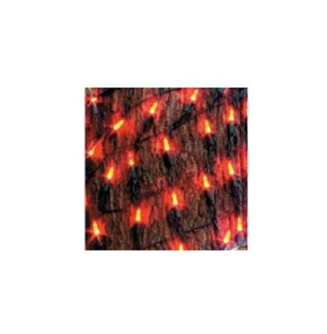 multi red white outdoor led tree trunk christmas net