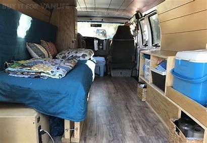 Bed Setup Van Conversion Campervan Messy Clean