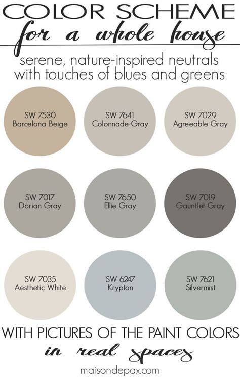 best 2244 paint whole house color palette images pinterest other revere pewter woodlawn