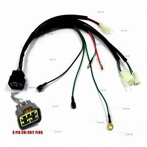 8 Pin Cdi Unit Plug Kick Start Wiring Wire Harness Loom