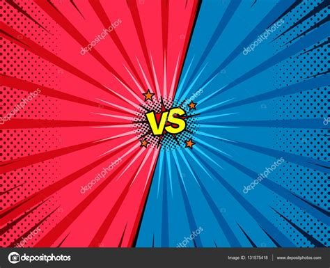 vs template comic book versus template background stock vector 169 azamatovic 131575418