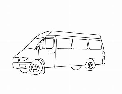 Van Pages Coloring Printable Transport Means Drawing