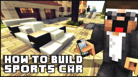 minecraft sports car minecraft vehicle tutorial sports car youtube
