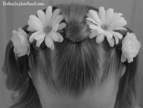 Knotty Flower Girl Hairstyle