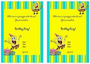 Free Tea Party Invitations To Print Spongebob Birthday Invitations Birthday Printable