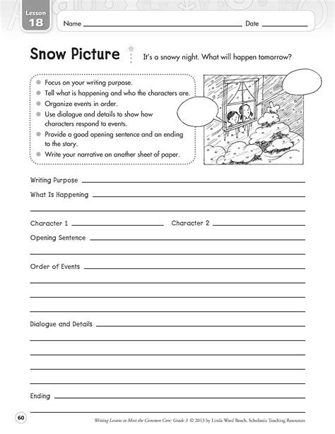 narrative writing worksheets for grade 1 14 best images of worksheets 4th grade narrative writing