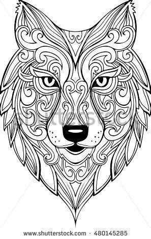 Image result for wolf head shape | Mandala coloring pages, Animal coloring pages, Wolf head drawing