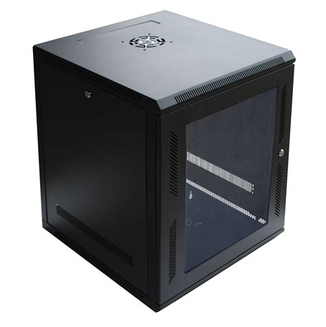wall mount cabinet 120267bk 12u wall mount cabinet rack w locking glass