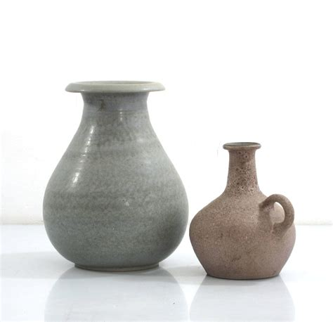 vintage ceramic table ls ceramic vases studio pottery two beautifully made vintage