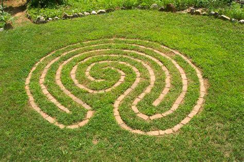 labyrinth design flower tropes home mowing as meditation