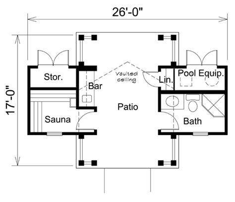 pool house floor plans floor plan of poolhouse plan 95941 just add water