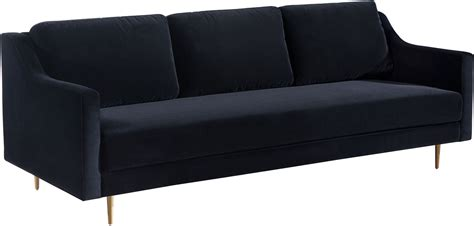 Black Velvet Loveseat by Milan Black Velvet Sofa From Tov Coleman Furniture