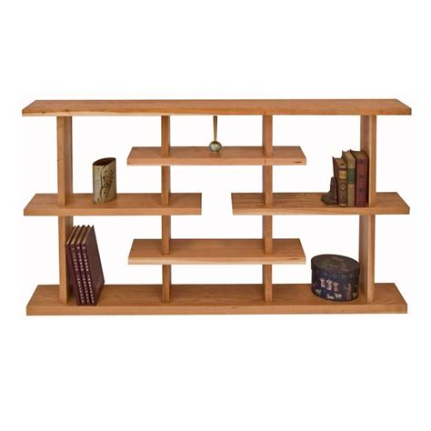 Low Modern Bookcase by Modern Style Bookcase Solid Cherry Maple Walnut Wood