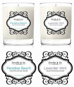 Handmade soy candles label template for Handmade candle labels