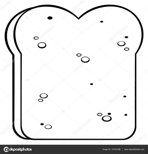 Boterham Kleurplaat by Czarno Biały Rysunek Chleb Grafika Wektorowa 169 Hittoon