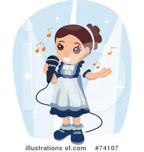 Girl Singing Clip Art