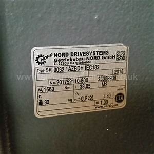 Nord Helical Bevel Geared Motor Sk9032 Azbdhiec132 Nord Gearbox 5 5kw 7 5hp 38rpm