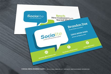 preview  creative market  social media business cards