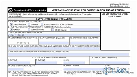 va benefits claim form learn how to fill the va form 21 526 veteran s application