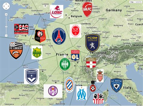 I Made A Ligue 1 Football Map Ligue1