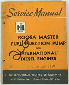 Roosa Master Pump - Replacement Engine Parts
