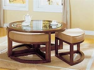 Verre Pour Table Basse : la table basse avec pouf pour un style de vie moderne ~ Teatrodelosmanantiales.com Idées de Décoration