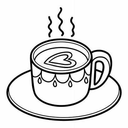 Coffee Coloring Cup Tasse Cafe Ausmalen Zum