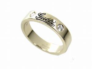 authentic gucci diamond ring 18k white gold wedding band With gucci wedding rings
