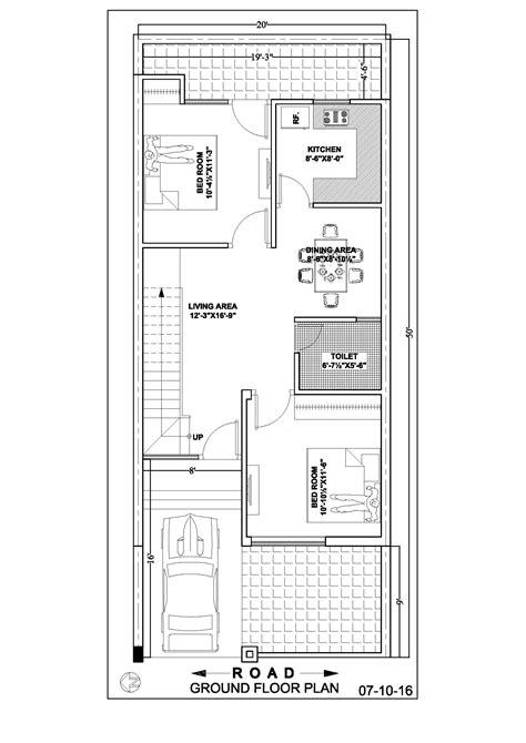 ground floor plan 20 50 duplex house floor plan ghar banavo
