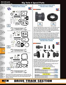 Discount 4 Speed Transmission Parts For Big Twins From Mid