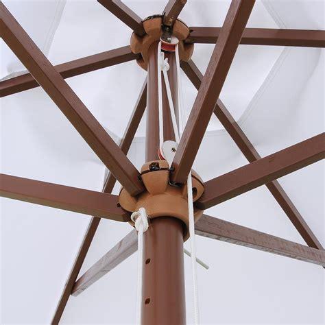 8ft outdoor patio umbrella wooden pole garden pool