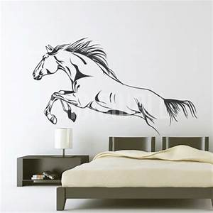 Horse wall stickers 2017 grasscloth wallpaper for Horse wall decals