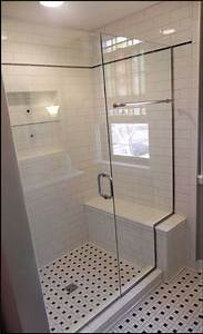 Small bathroom window design with black and white floor for How to replace a bathroom window