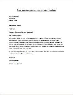 send  letter   client informing himher   price