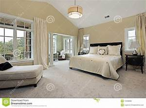 Master Bedroom With Sitting Room Royalty-Free Stock Image ...
