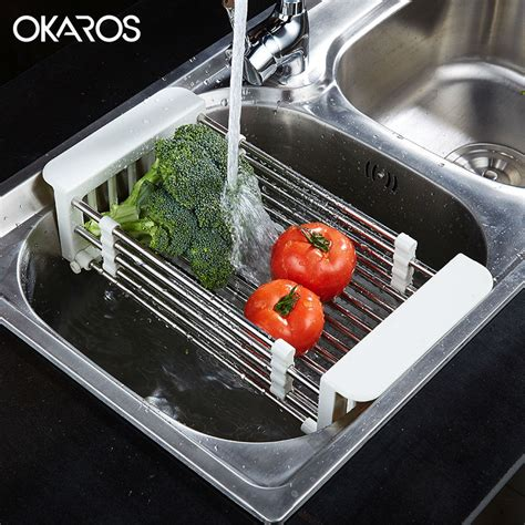 kitchen sink drain rack okaros multifunction kitchen sink drain rack 304 5743