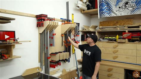 I drove three of them evenly space through the back and into here are a few shots of the finished clamp rack. Clamp Rack - Version 2 | Jays Custom Creations