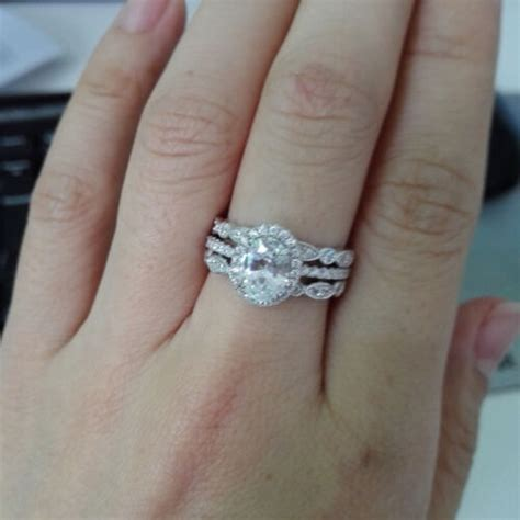 s cz 925 sterling silver halo oval cut engagement wedding ring sz 5 10