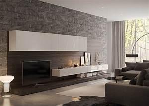 Steinwand Wohnzimmer Tv : steinwand mit textur in grau hinter wohnwand ideen haus pinterest steinwand textur und grau ~ Bigdaddyawards.com Haus und Dekorationen