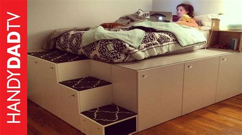 bookcase bed frame ikea hack platform bed diy