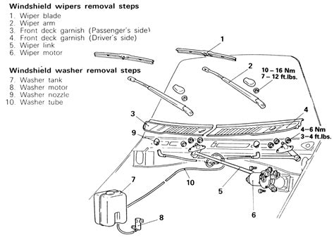 repair guides windshield wipers windshield wiper motor and linkage autozone com