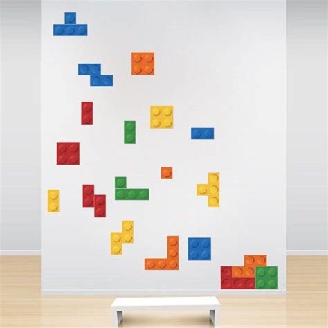 Lego Tetris Wall Decals Tetris Lego Wall Stickers By