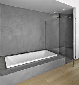beton cire salle de bain With beton mural salle de bain