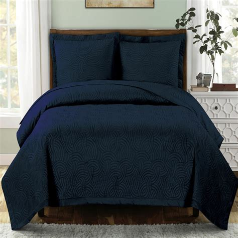 Navy Coverlet by Navy California King Size Emerson Coverlet 3 Pc Set Luxury
