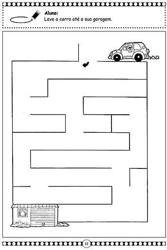 printable maze worksheet  kids  przedszkole