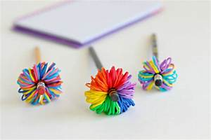 Rainbow Loom Band Pencil Toppers Make and Takes